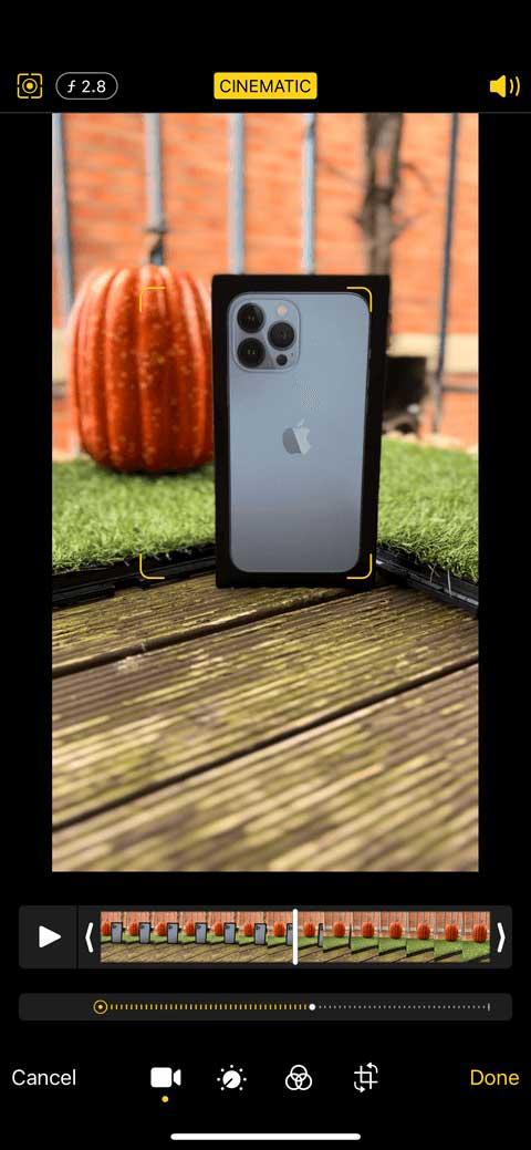Ứng dụng quay video trên iPhone 13