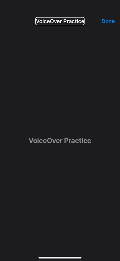Thực hành sử dụng VoiceOver