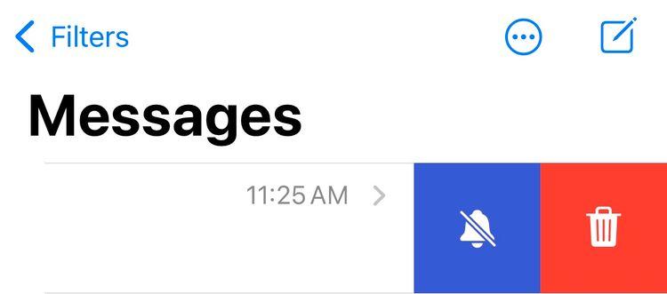 Tắt thông báo tin nhắn trên Tin nhắn