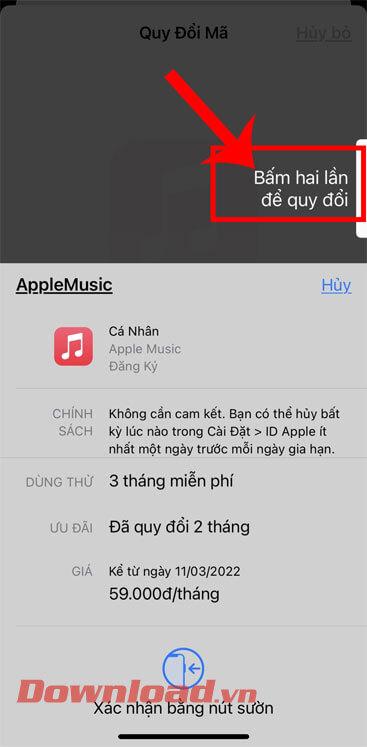 """<p><strong>Bước 4:</strong> Ở cuối màn hình khi cửa sổ đăng nhập tài khoản Apple Music xuất hiện, """"/></div> </li> <li class="""