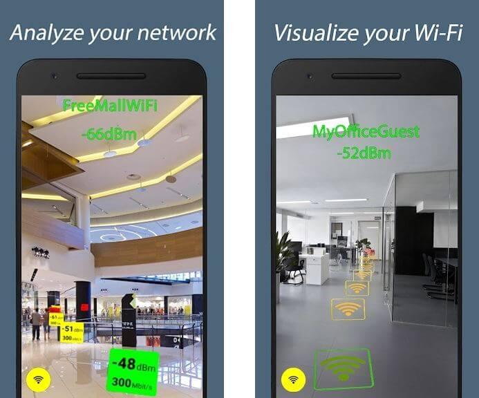 Phân tích cường độ tín hiệu với WiFi AR