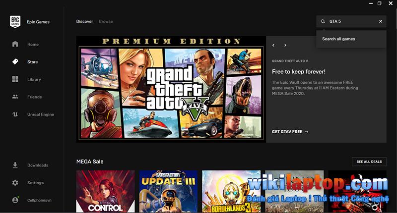 Sforum - Thông tin công nghệ mới nhất trang 7 Cách tải xuống GTA 5 Premium Edition miễn phí trên Epic Games Store