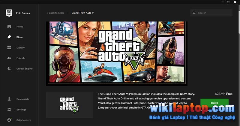 Sforum - Thông tin công nghệ mới nhất trang 11 Hướng dẫn cách tải xuống GTA 5 Premium Edition miễn phí trên Epic Games Store