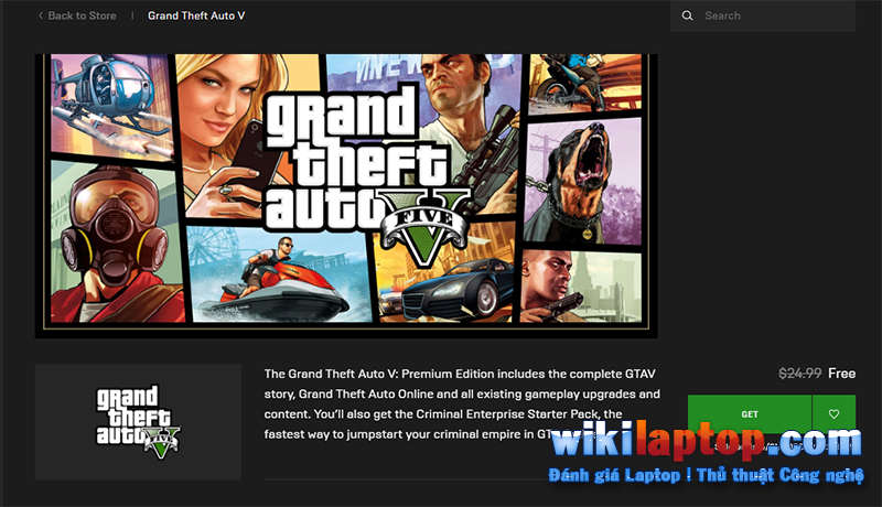 Sforum - Trang thông tin công nghệ mới nhất 9 Hướng dẫn cách tải xuống GTA 5 Premium Edition miễn phí trên Epic Games Store