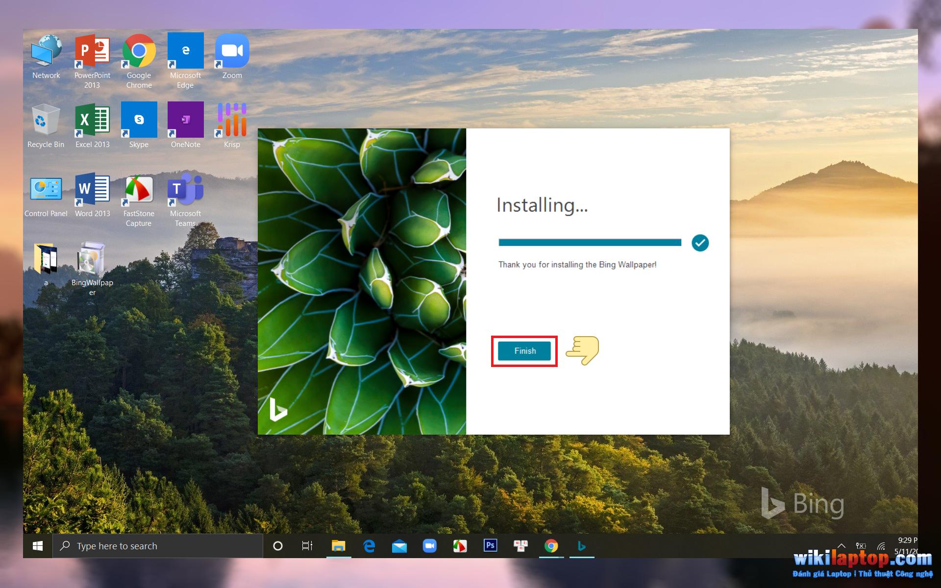 Sforum - Thay đổi trang thông tin công nghệ mới nhất-desktop-hình nền-ngay lập tức với Bing-Wallpaper4 Cách tự động thay đổi hình nền máy tính để bàn thông qua ứng dụng Hình nền Bing