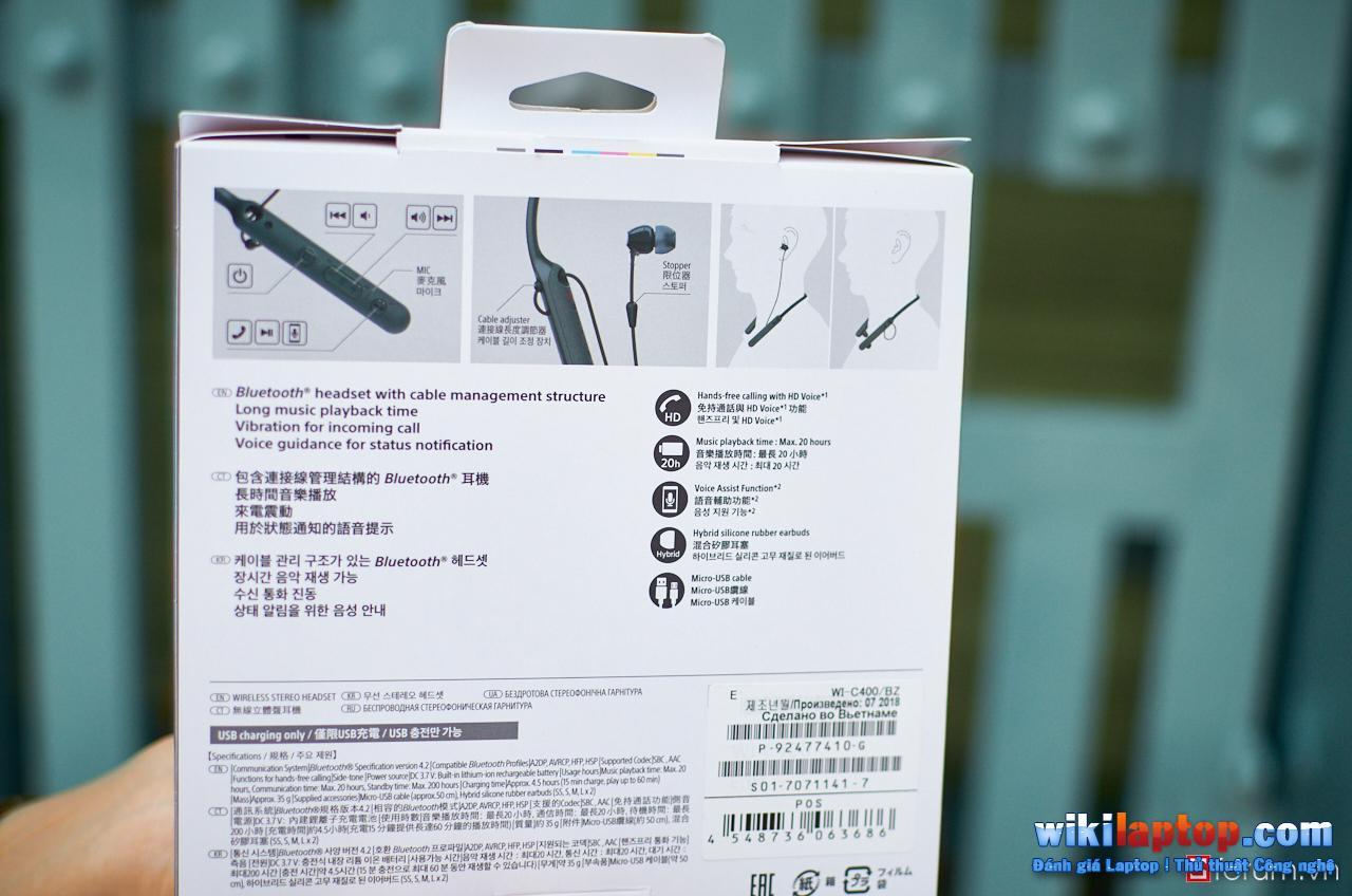 Sforum - Trang thông tin công nghệ mới nhất DSC_5811 Đánh giá Sony WI-C400 - Tai nghe không dây có thời lượng pin lên tới 20 giờ