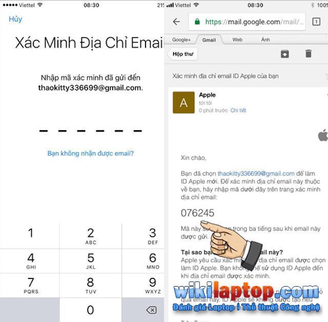 Xác minh tài khoản Apple ID của bạn qua địa chỉ email