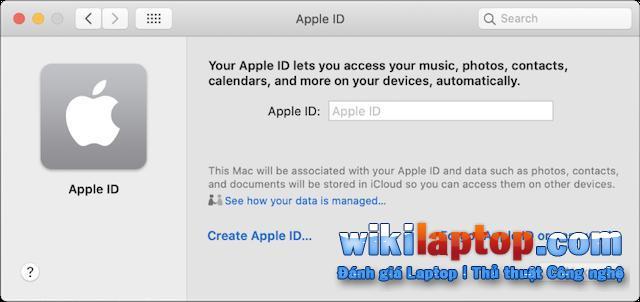 Tạo ID Apple trên MacOS