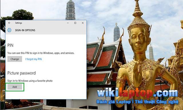 Thay đổi mật khẩu bằng hình ảnh