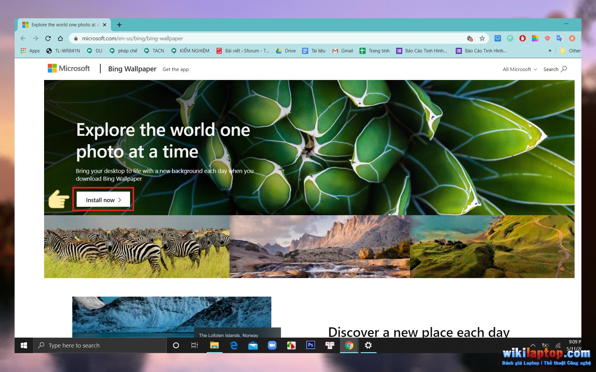Sforum - Thay đổi trang thông tin công nghệ mới nhất-desktop-hình nền-ngay lập tức với Bing-Wallpaper1 Cách thay đổi hình nền máy tính tự động mỗi ngày thông qua ứng dụng Bing Wallpaper