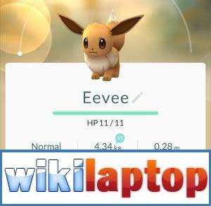 Số liệu thống kê về Eevee trong Pokemon Go