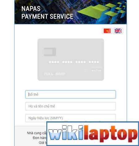 Nhập thông tin thẻ thanh toán vé máy bay Bamboo Airway