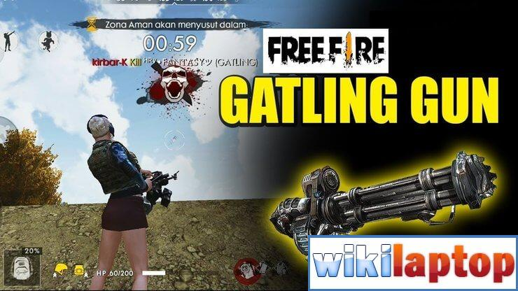 Súng máy Free Fire Gatling