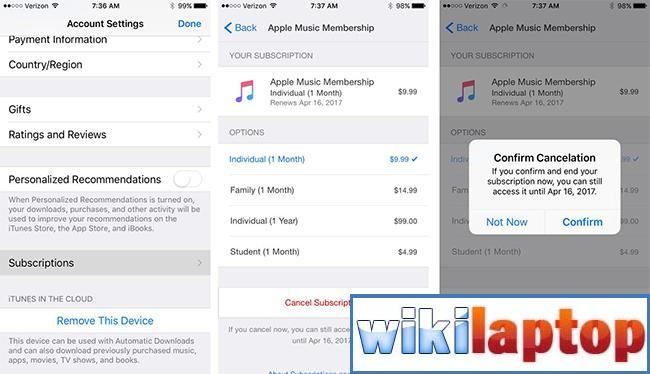 Hủy gia hạn thanh toán trên App Store