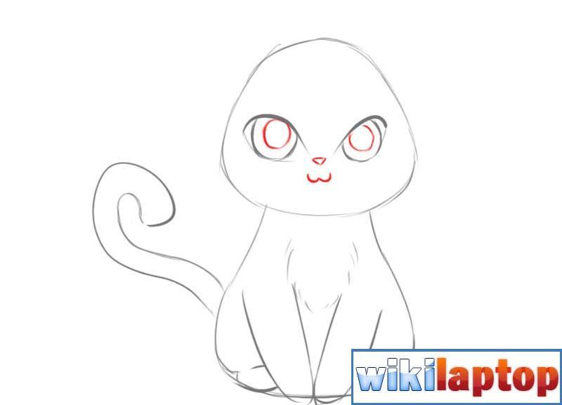 Vẽ mắt của một con mèo anime