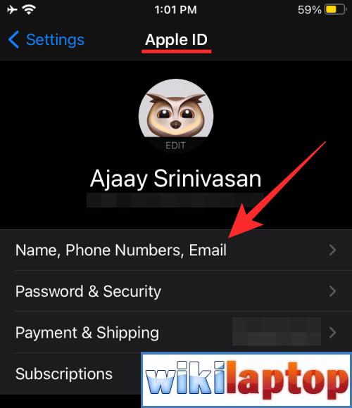 Liệt kê tên, số điện thoại và email cho Apple ID