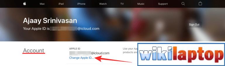 Thay đổi ID Apple