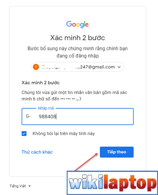 bảo mật gmail bằng mã email 08