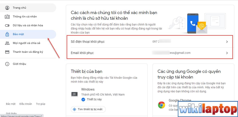 tài khoản gmail an toàn