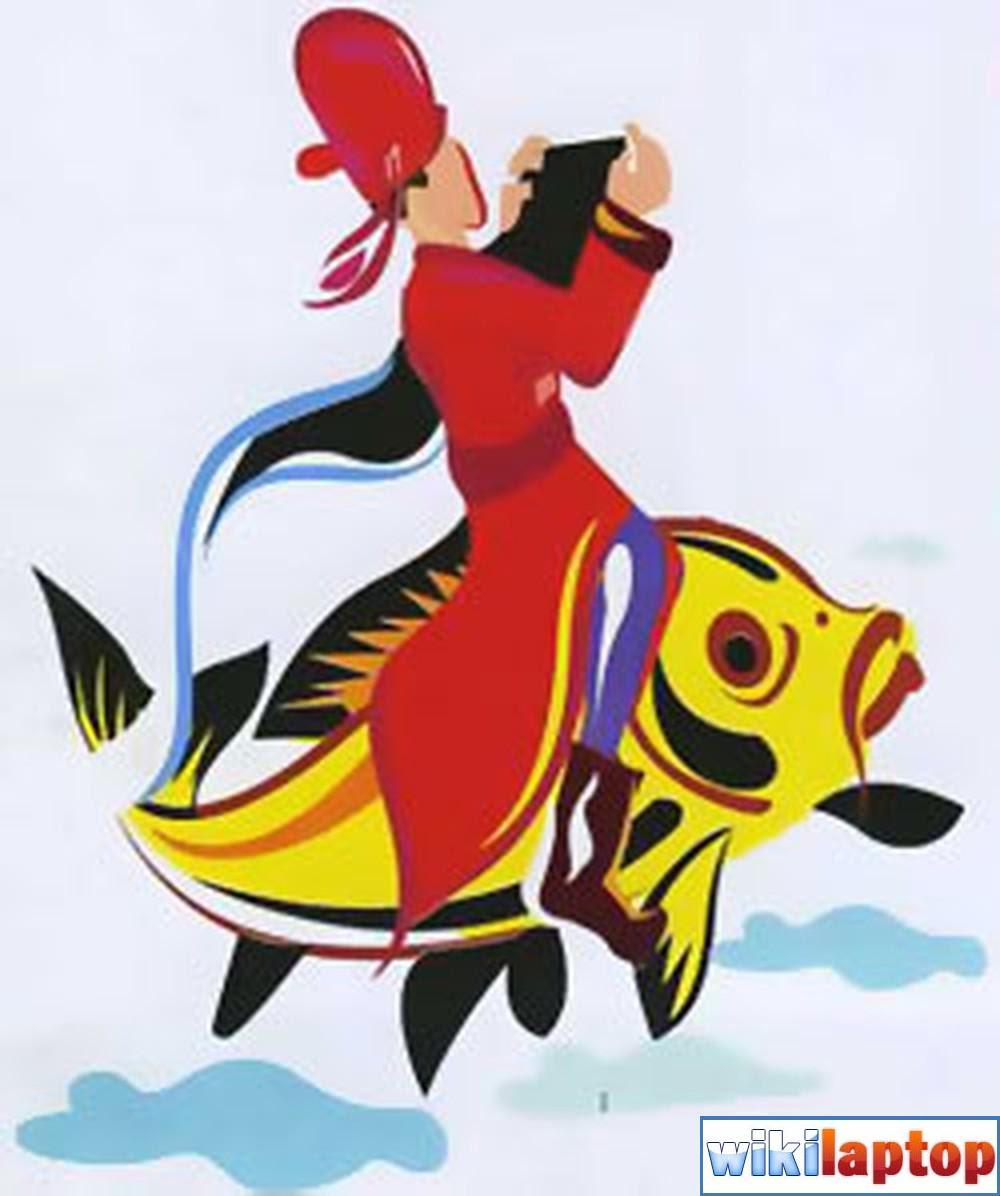 Hình ảnh Táo Quân cưỡi cá chép 6 đẹp