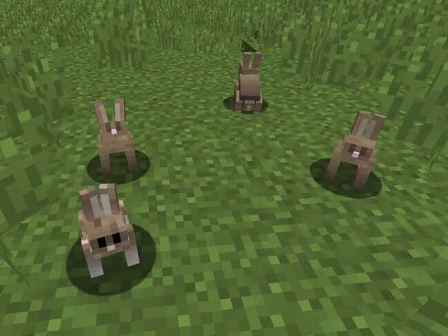 Đám đông thỏ trong Minecraft