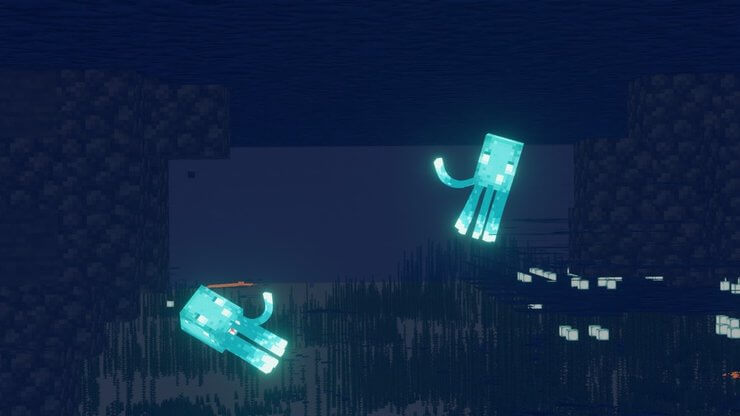 Mob Glow Squid trong Minecraft