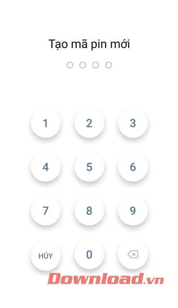 Tạo mã pin mới